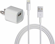 Apple Original 8-pin Lighting Wall Charger - Cube & 3ft Data Cable