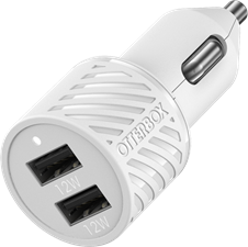 OtterBox Premium Dual Usb A Port Car Charger 24w