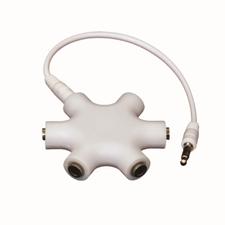 Helix Retractable Headphone Audio Splitter w/2.6 inch Cord