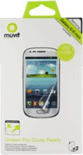 Muvit Samsung Galaxy S 3 Mini Clear Cover Ready Screen Protector (2PK)