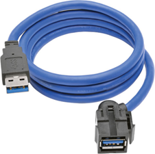 Tripp Lite 3' USB 3.0 SuperSpeed Keystone Jack A Cable (M/F)