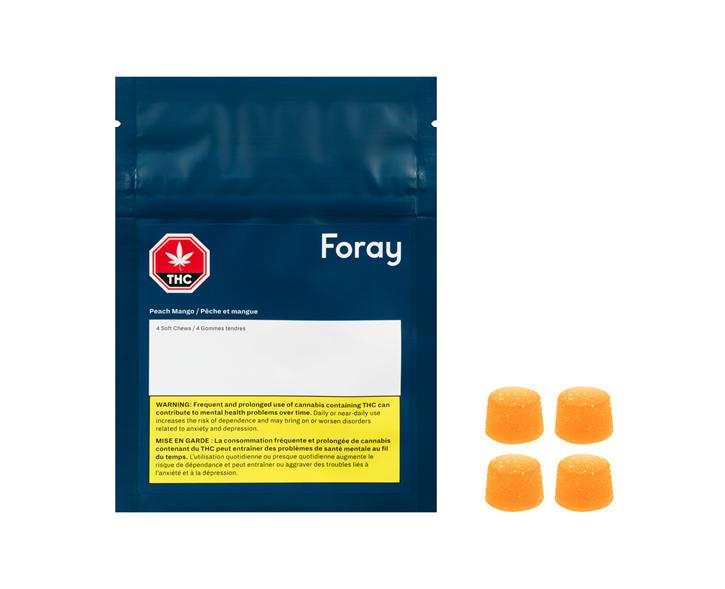 Peach Mango 1:1 Soft Chew - Foray  - Edibles