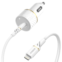 OtterBox Fast Charge Usb C 18w Car Charger And Usb C To Apple Lightning Cable 1m - Cloud Dust