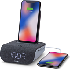iHome Qi Charging Bluetooth Alarm Clock